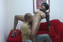 Licking ebony pussy and ass
