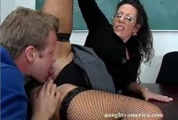 Licking under skirt teacher