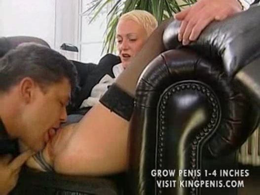 Guy Licking Blonde Pussy