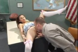 Asian student persuaded teacher to lick pussy